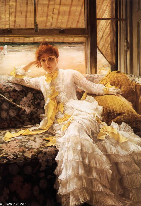 famous painting Spring Specimen of a Portrait of James Jacques Joseph Tissot