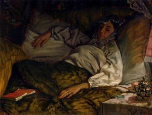 James Jacques Joseph Tissot - TA Reclining Lady