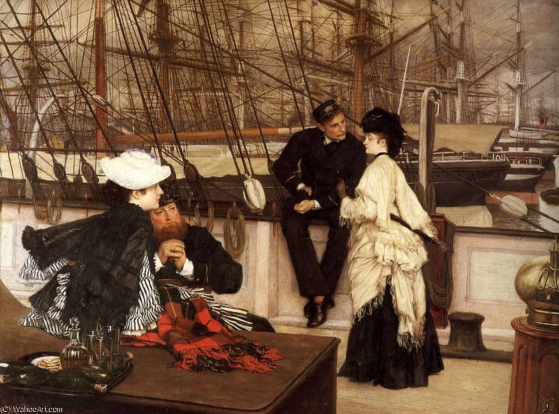 famous painting The Captain and the Mate of James Jacques Joseph Tissot