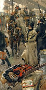 James Jacques Joseph Tissot - The departure Platform Victoria Station