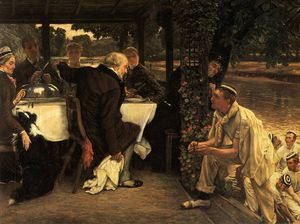 James Jacques Joseph Tissot - the prodigal son the fatted calf