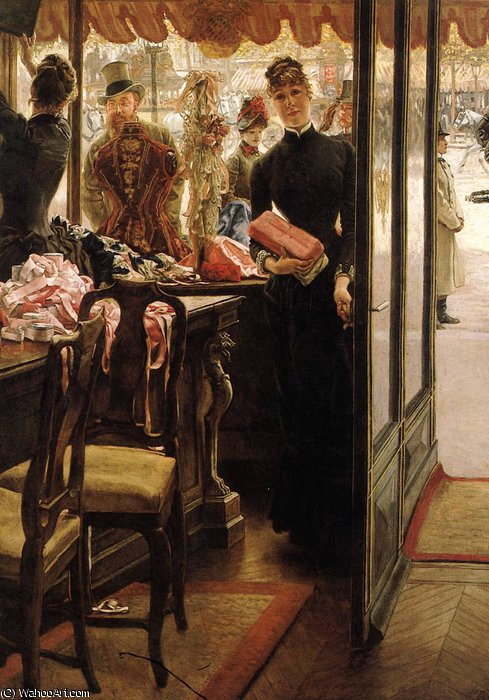 famous painting the shop girl of James Jacques Joseph Tissot