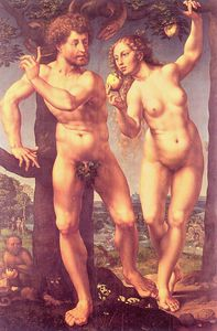 Jan Gossaert (Mabuse) - Adam and Eve in Paradise