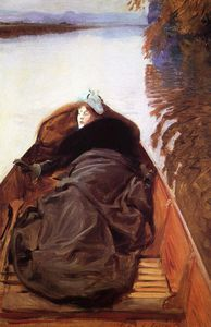 John Singer Sargent - Autumn on the River aka Miss Violet Sargent