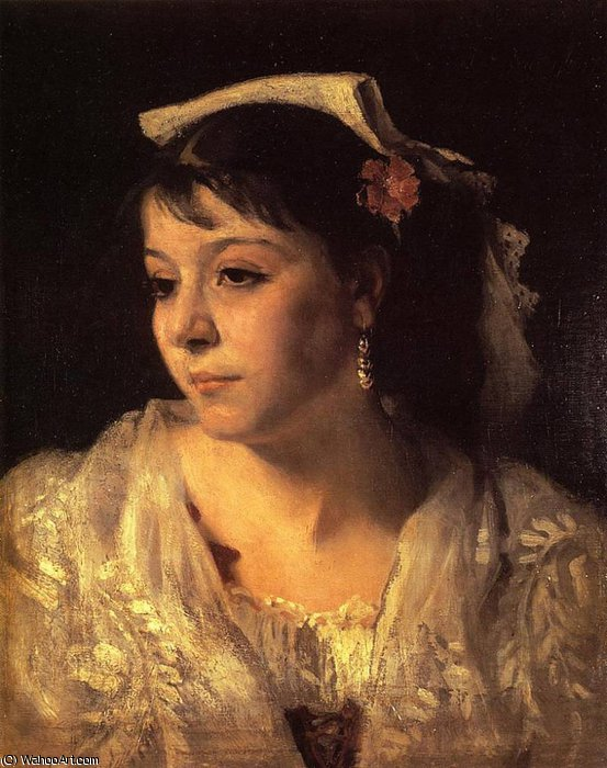 Order Paintings Reproductions Impressionism | Head of an Italian Woman by John Singer Sargent | TopImpressionists.com