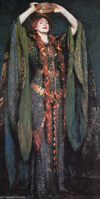 famous painting Miss Ellen Terry as Lady Macbeth of John Singer Sargent
