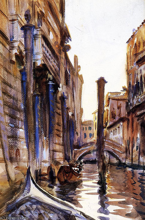 famous painting Side Canal in Venice of John Singer Sargent