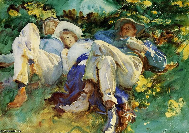 famous painting siesta of John Singer Sargent