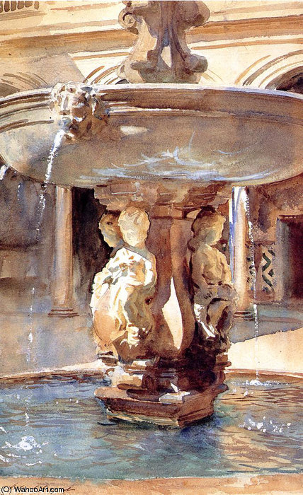famous painting spanish fountain of John Singer Sargent