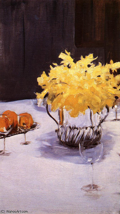 famous painting Still Life with Daffodils of John Singer Sargent