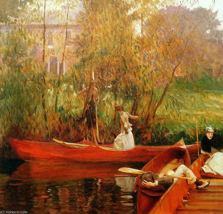 famous painting The boating party Sun of John Singer Sargent