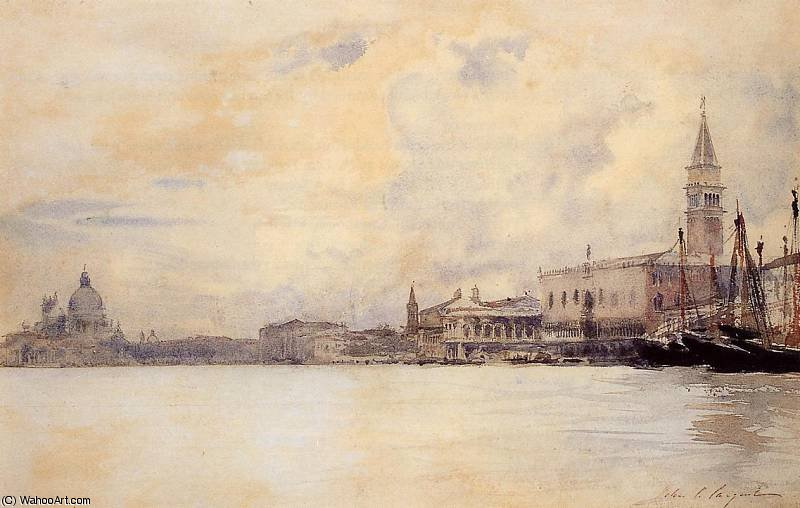 famous painting The Entrance to the Grand Canal Venice of John Singer Sargent