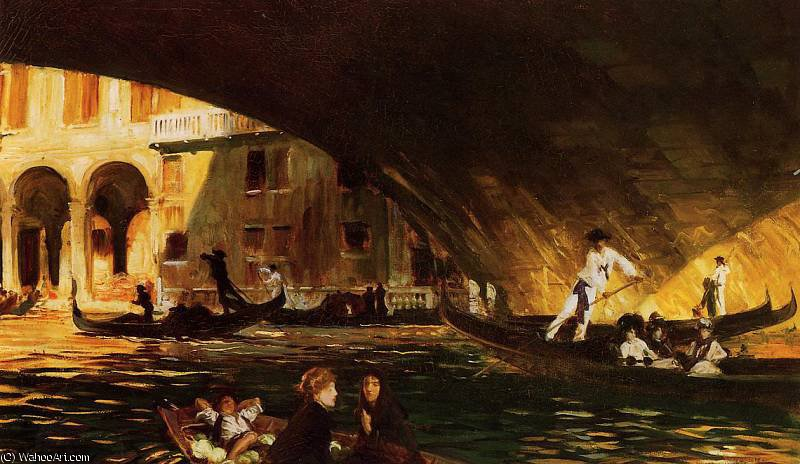 famous painting the rialto of John Singer Sargent