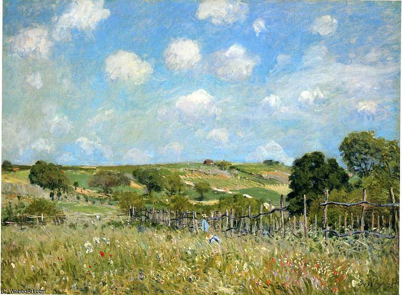 famous painting untitled (7415) of Alfred Sisley
