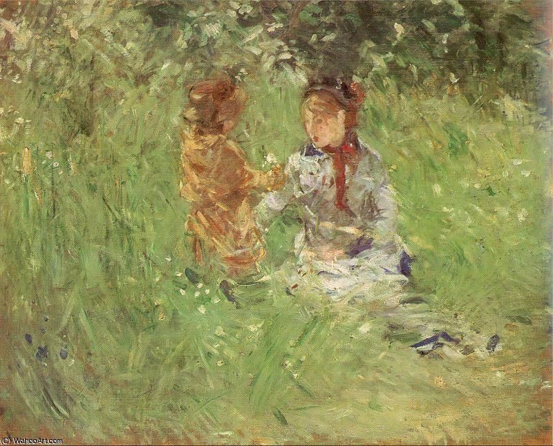 famous painting untitled (5969) of Berthe Morisot