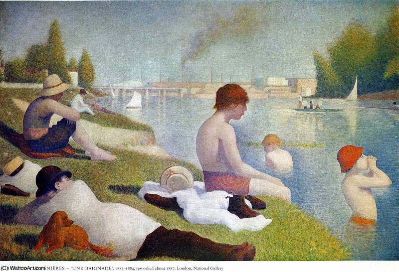 famous painting untitled (9441) of Georges Pierre Seurat