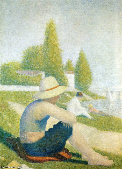 famous painting untitled (2008) of Georges Pierre Seurat