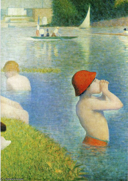 famous painting untitled (4022) of Georges Pierre Seurat