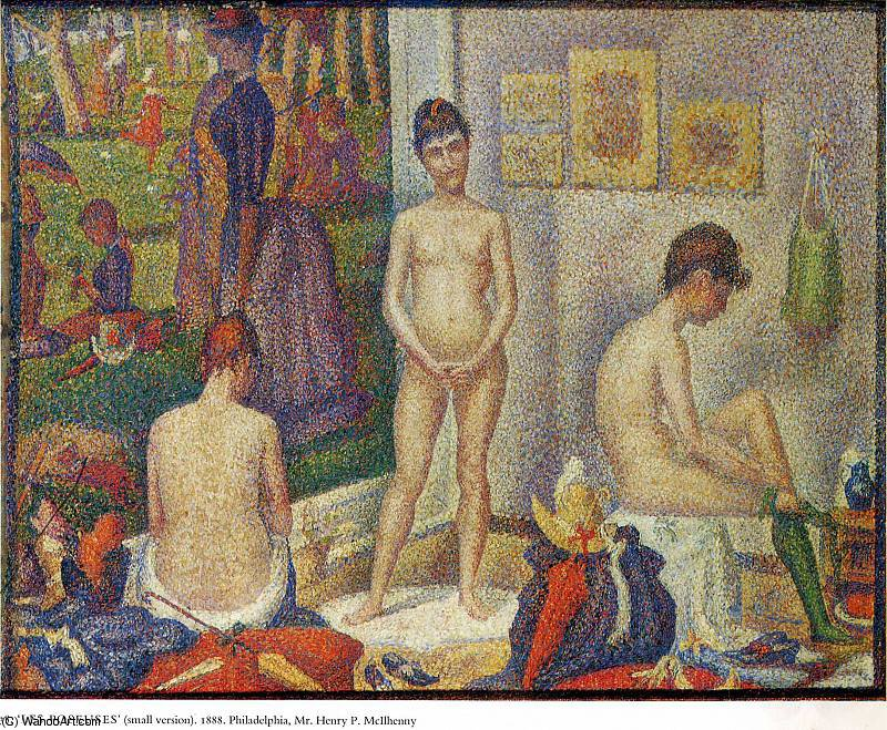 famous painting untitled (4589) of Georges Pierre Seurat