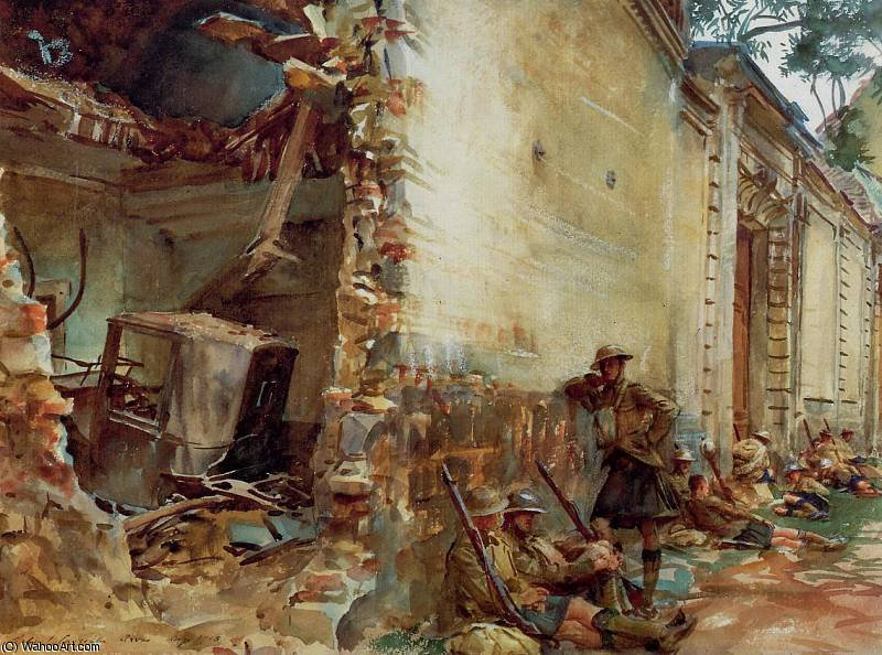 famous painting Street in Arras of John Singer Sargent