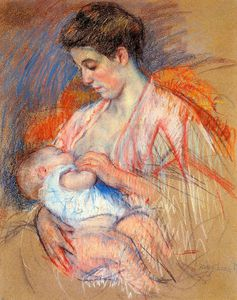 Mary Stevenson Cassatt - mother jeanne nursing her baby