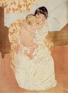 Mary Stevenson Cassatt - nude child