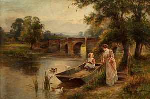 Ernest Charles Walbourn - Child And Boat