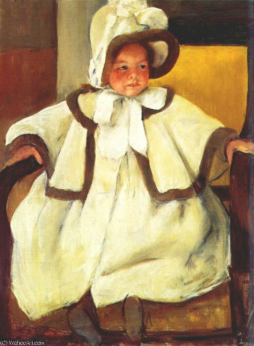 famous painting ellen mary cassatt in a white coat of Mary Stevenson Cassatt