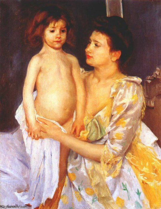 famous painting jules being dried by his mother of Mary Stevenson Cassatt