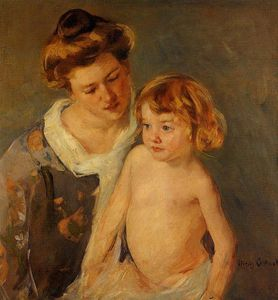 Mary Stevenson Cassatt - Jules Standing by His Mother