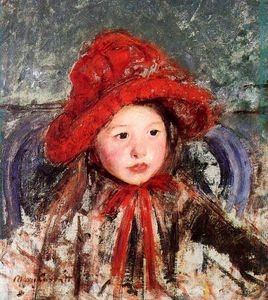 Mary Stevenson Cassatt - Little Girl in a Large Red Hat