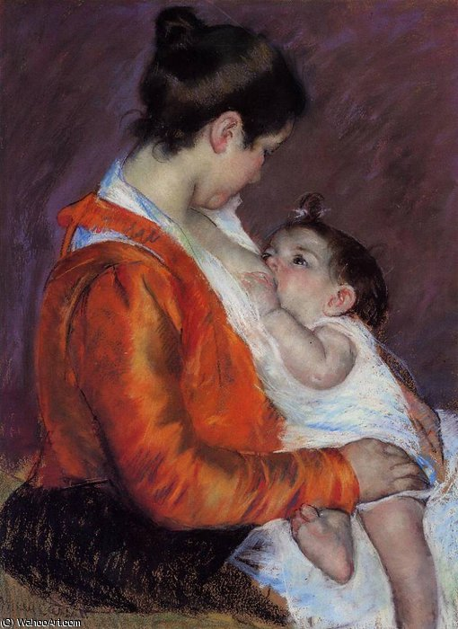 famous painting louise nursing her child of Mary Stevenson Cassatt