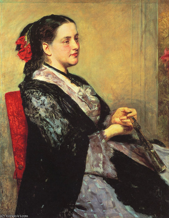 famous painting Portrait of a lady Seville of Mary Stevenson Cassatt