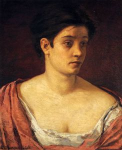 Mary Stevenson Cassatt - portrait of a woman