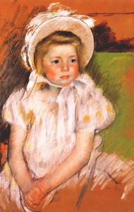 Mary Stevenson Cassatt - simone in a white bonnet