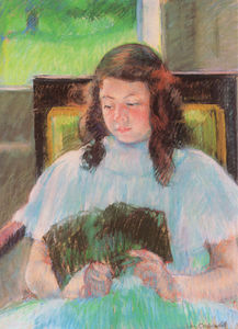 Mary Stevenson Cassatt - young girl reading