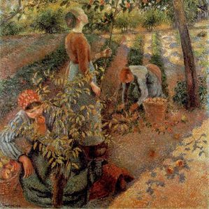 Camille Pissarro - apple picking.