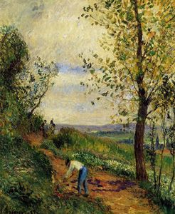 Camille Pissarro - Landscape with a Man Digging.