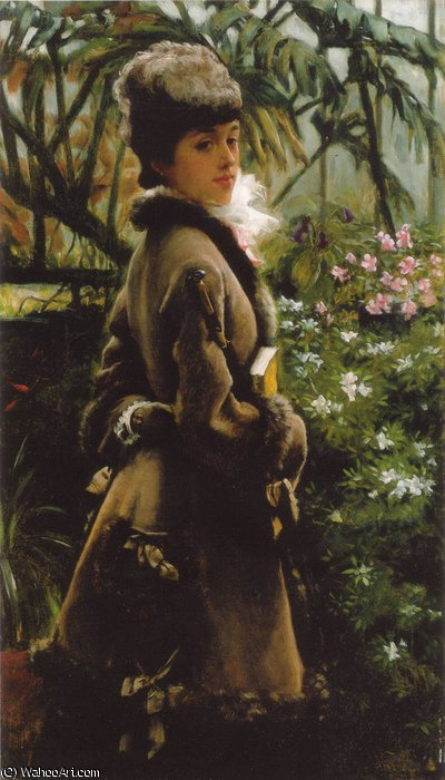 famous painting Dans la serre of James Jacques Joseph Tissot
