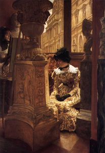 James Jacques Joseph Tissot - In the Louvre