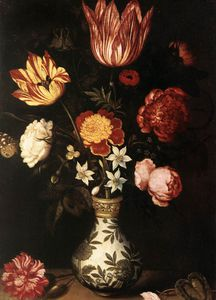 Ambrosius Bosschaert The Elder - Flower piece