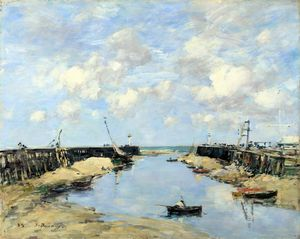 Eugène Louis Boudin - The Entrance to Trouville Harbour