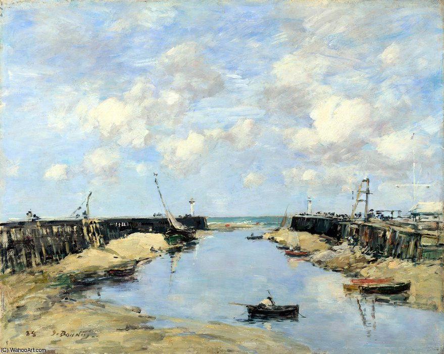 famous painting The Entrance to Trouville Harbour of Eugène Louis Boudin
