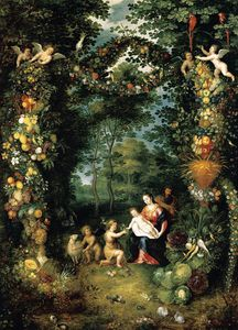 Jan The Younger Brueghel - Holy Family with St John