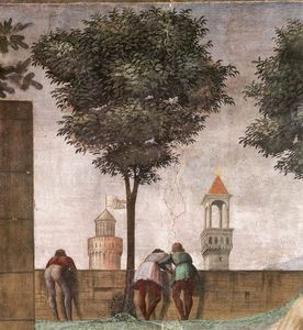 Domenico Ghirlandaio - 2.right wall - Visitation (detail)4