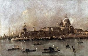 Francesco Lazzaro Guardi - A View of the Entrance to the Grand Canal
