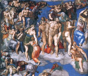 Michelangelo Buonarroti - left - Last Judgment d2