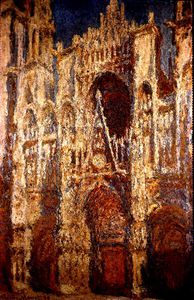 Claude Monet - Rouen Cathedral Facade in Sunlight