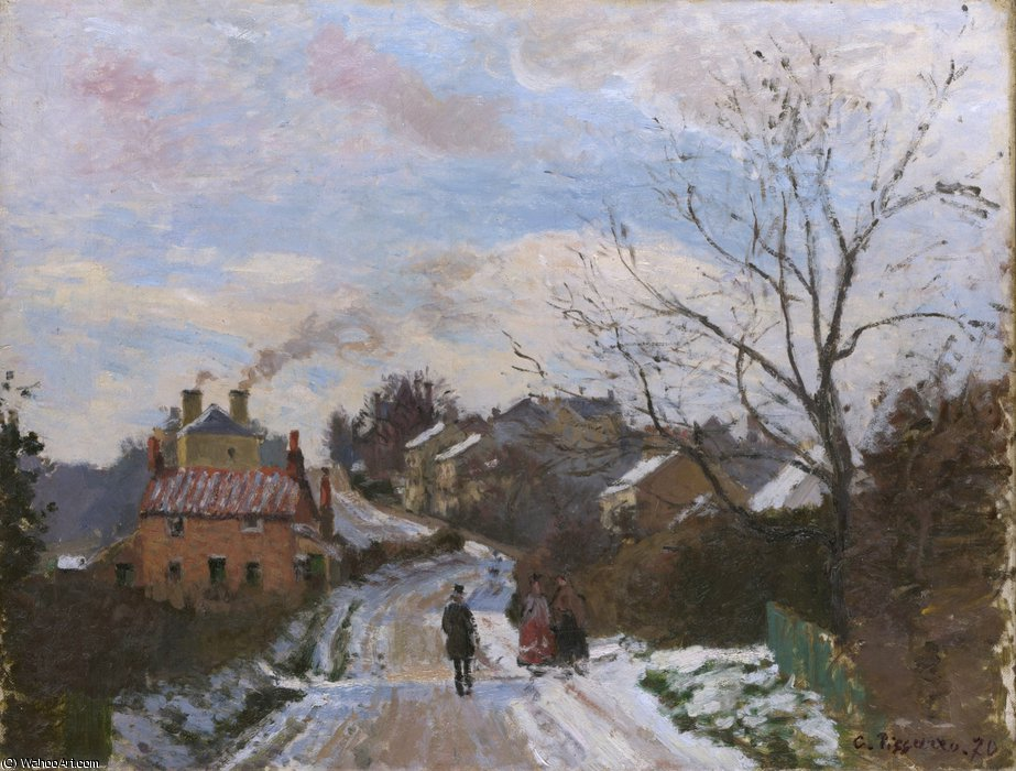 Order Art Reproductions Impressionism : Fox hill, upper norwood by Camille Pissarro | TopImpressionists.com