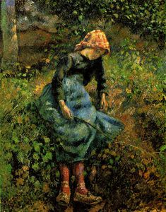 Camille Pissarro - The Shepherdess (Young Peasant Girl with a Stick)